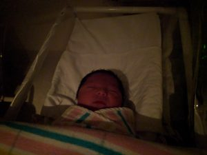New baby in bassinet