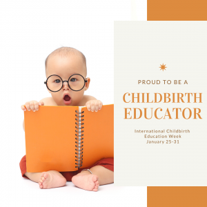 proud to be a childbirth educator